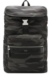 Текстильный рюкзак с клапаном HUGO