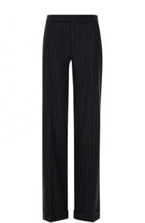 Шерстяные расклешенные брюки в полоску Ralph Lauren