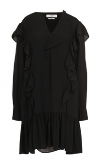 Мини-платье свободного кроя с оборками Isabel Marant Etoile