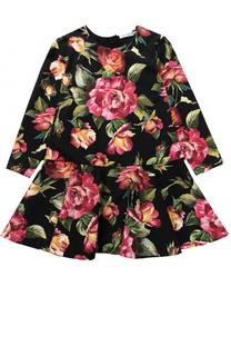 Трикотажное мини-платье с принтом Dolce & Gabbana