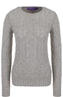 Кашемировый пуловер фактурной вязки Ralph Lauren