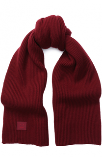 Шерстяной шарф фактурной вязки Acne Studios