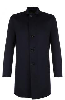 Однобортное кашемировое пальто прямого кроя Kiton
