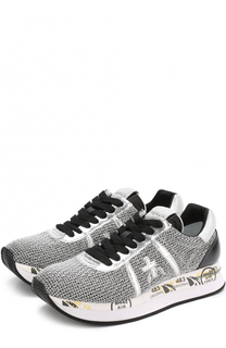 Комбинированные кроссовки Conny на шнуровке Premiata