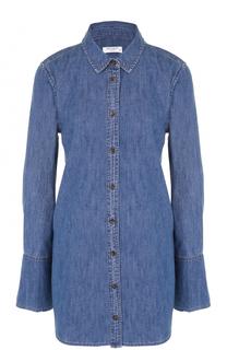 Удлиненная джинсовая блуза свободного кроя Equipment