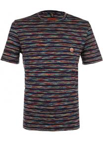 Хлопковая футболка в контрастную полоску Missoni