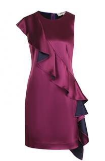 Приталенное мини-платье с оборками Diane Von Furstenberg