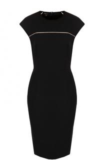 Приталенное шерстяное платье-миди Escada