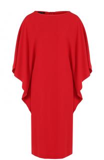 Платье прямого кроя с широкими рукавами Escada