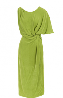 Бархатное платье асимметричного кроя с драпировкой Emilio Pucci
