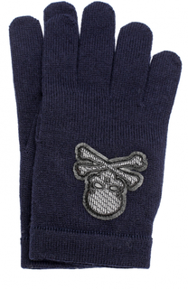Шерстяные перчатки с отделкой Philipp Plein
