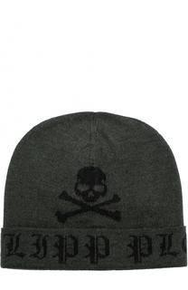 Шерстяная шапка бини Philipp Plein