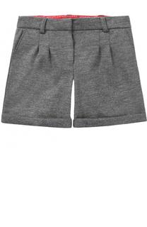 Шерстяные шорты с отворотами Dolce & Gabbana