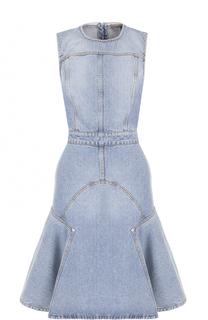 Приталенное джинсовое платье без рукавов Alexander McQueen
