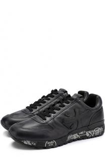 Кожаные кроссовки на шнуровке Premiata