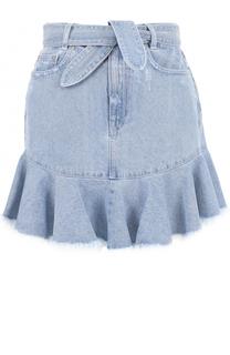 Джинсовая мини-юбка с потертостями Zimmermann
