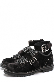 Бархатные ботинки Blanche с ремешками Jimmy Choo