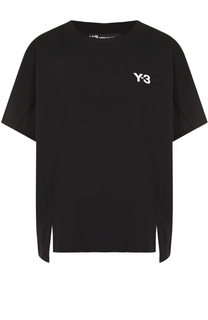 Хлопковая футболка с круглым вырезом Y-3