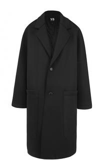 Однобортное пальто свободного кроя Y-3