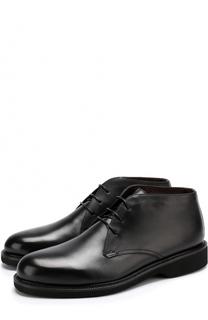 Кожаные ботинки на шнуровке Ermenegildo Zegna