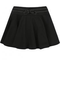 Трикотажная мини-юбка с декоративным бантом Aletta