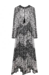 Шелковое платье-миди свободного кроя Zimmermann