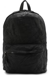 Кожаный рюкзак с внешним карманом на молнии Giorgio Brato