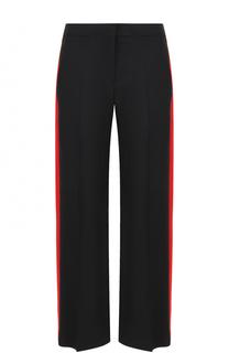 Шерстяные брюки с контрастными лампасами Alexander McQueen