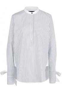 Хлопковая блуза свободного кроя в полоску Rag&Bone Rag&Bone