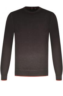 Джемпер из смеси шерсти и шелка с градиентным рисунком BOSS