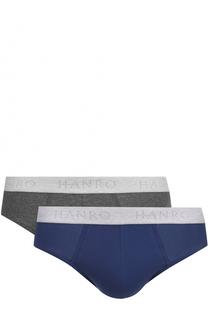 Комплект из двух хлопковых брифов с широкой резинкой Hanro