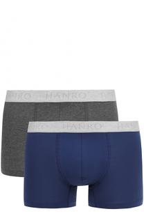 Комплект из двух хлопковых боксеров с широкой резинкой Hanro