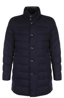 Шерстяное пуховое пальто Vallier с воротником-стойкой Moncler