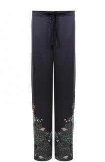 Шелковые брюки с принтом Meng