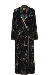 Пальто свободного кроя с контрастной вышивкой Forte_forte