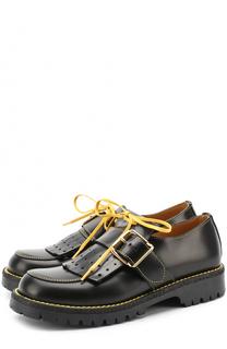 Кожаные ботинки с бахромой и ремешком Gallucci