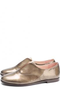 Кожаные ботинки с металлизированной отделкой Beberlis