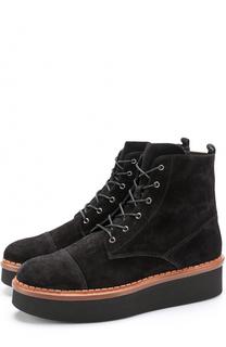 Замшевые ботинки на массивной подошве Tod's Tods