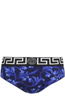 Брифы из вискозы с широкой резинкой Versace