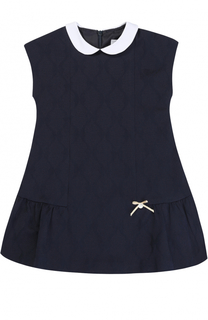 Трикотажное мини-платье с контрастным воротником Tartine Et Chocolat
