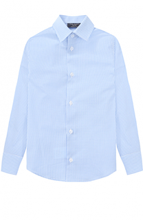 Хлопковая рубашка в мелкую клетку Dal Lago