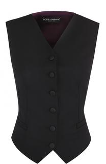 Жилет с контрастной шелковой спинкой Dolce & Gabbana