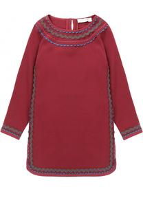 Трикотажное мини-платье с контрастной отделкой Stella McCartney