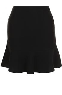 Однотонная юбка-миди с оборкой Blugirl