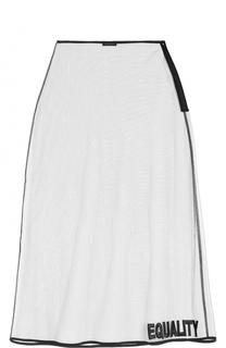 Прозрачная юбка-миди Versace