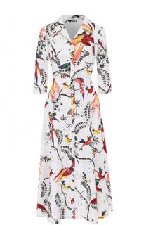 Приталенное платье-рубашка с принтом Erdem