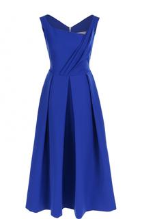 Приталенное платье-миди со складками PREEN by Thornton Bregazzi