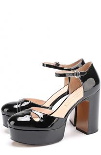 Лаковые туфли на устойчивом каблуке и платформе Marc Jacobs