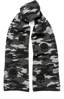 Шерстяной шарф с камуфляжным принтом Gemma. H