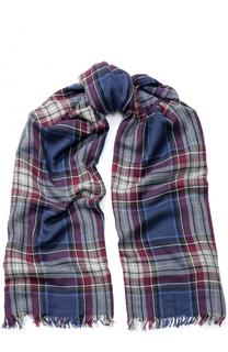 Кашемировый шарф с необработанным краем Loro Piana